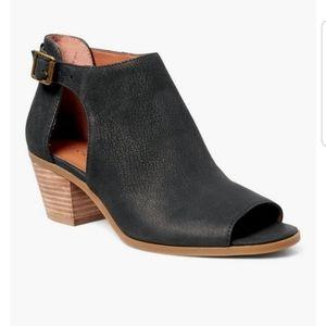 Lucky Brand   Black Barimo Peep Toe Booties